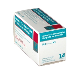 Lisinopril 1 A Plus 20/12,5 Tabletten