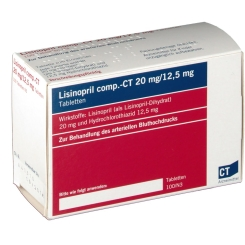 Lisinopril comp-CT 20/12,5 mg Tabletten