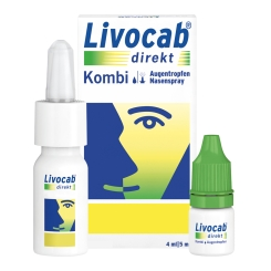 Livocab® direkt Kombi 4 ml Augentropfen + 5 ml Nasenspray