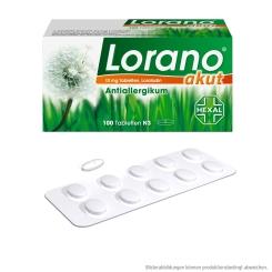 Lorano® akut 10 mg Tabletten + Kühlmaske GRATIS