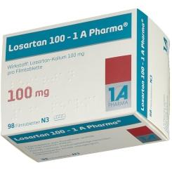 Losartan 100 1 A Pharma Filmtabletten