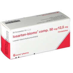 LOSARTAN biomo comp. 50/12,5mg Filmtabletten