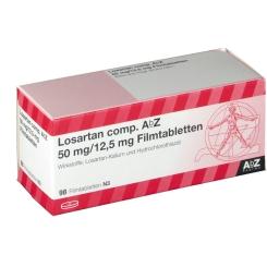 LOSARTAN comp. AbZ 50/12,5mg Filmtabletten