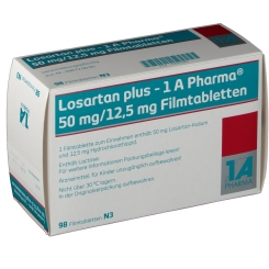 LOSARTAN plus 1A Pharma 50/12,5mg