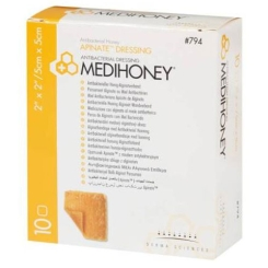 MEDIHONEY® antibakterieller Alginatverband 5 x 5 cm