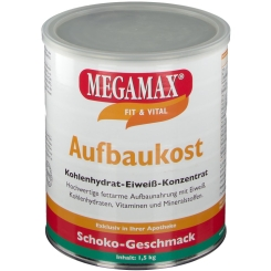 MEGAMAX® Fit & Vital Aufbaukost Kohlenhydrat-Eiweiß-Konzentrat Schoko-Geschmack