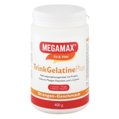 MEGAMAX® Fit & Vital TrinkGelatine Plus Orange-Geschmack
