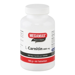 MEGAMAX® POWER & SPORT L-Carnitin 1.000 mg Tabletten