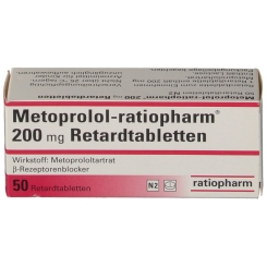 METOPROLOL ratiopharm 200 mg Retardtabletten