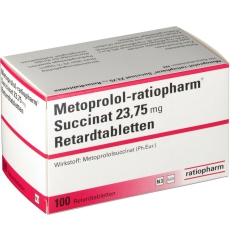 METOPROLOL ratiopharm Succinat 23,75mg Retardtabl.