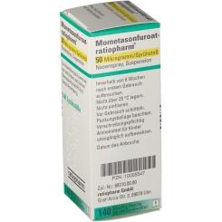 MOMETASONFUROAT ratiopharm 50µg/Sprühst.140 Spr.St