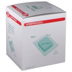 Mullkompresse-steril 12-fach 10 x 10 cm