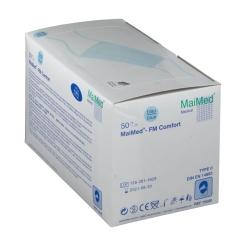 Mundschutz OP blau mit Nasenbügel zum Binden