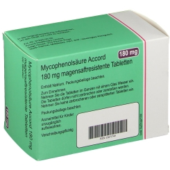 MYCOPHENOLSÄURE Accord 180 mg magensaftr.Tabletten