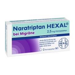 Naratriptan HEXAL® bei Migräne 2,5 mg