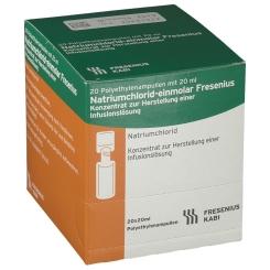 Natriumchlorid-einmolar Fresenius Plastikflaschen
