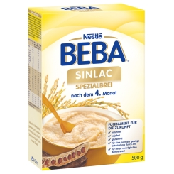 Nestlé BEBA® SINLAC Spezial Brei ab dem 4. Monat