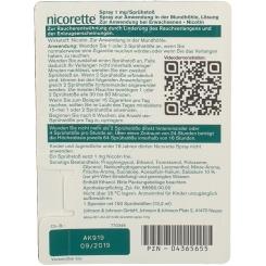 nicorette® Spray 1 mg/ Sprühstoß