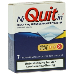 NiQuitin® Clear 7 mg transdermales Pflaster