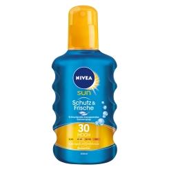 NIVEA® SUN Schutz & Frische transparentes Sonnenspray LSF 30