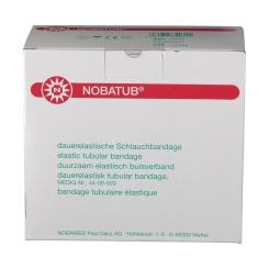NOBATUB® weiß Dauerelastische Schlauchbandage 6,75 cm x 10 m