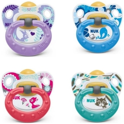 NUK® Beruhigungssauger Happy Kids Latex Gr. 2 (6-18 Monate)