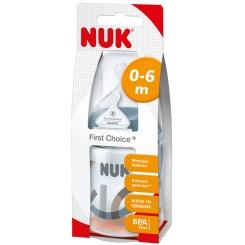 NUK® First Choice Plus Babyflasche 150 ml mit Trinksauger Größe 1 (0-6 Monate) S (Farbe nicht wählbar)