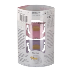 NUK® Genius Color Schnuller violett/altrosa (0-6 Monate)