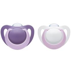 NUK® Genius Schnuller violett (0-2 Monate)