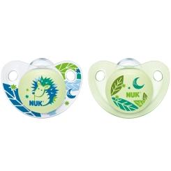 NUK® Trendline Night & Day Schnuller blau/grün (18-36 Monate)
