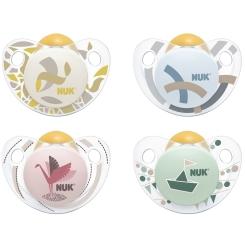 NUK® Trendline Schnuller aus Latex Größe 0 bis 6 Monate (Farbe nicht wählbar)