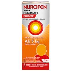 Nurofen® Junior Fieber- und Schmerzsaft Erdbeer 2%