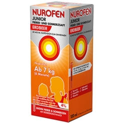 Nurofen® Junior Fieber- und Schmerzsaft Erdbeer 4%