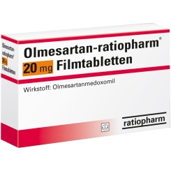 OLMESARTAN-ratiopharm 20 mg Filmtabletten