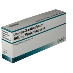 Omega 3 ratiopharm® 1000 mg Weichkapseln