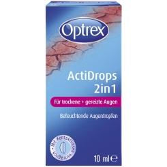 Optrex ActiDrops 2in1 für trockene und gereizte Augen