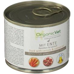 OrganicVet KATZE Nassfutter SENSITIVE Ente mit Karotte und Lachsöl