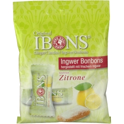 Original IBONS® Ingwer Bonbons Geschmack Zitrone