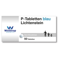 P-Tabletten blau Lichtenstein