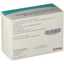 PANTOPRAZOL Pensa 20 mg magensaftres. Tabletten