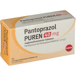 PANTOPRAZOL PUREN 40 mg magensaftres.Tabletten
