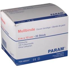 PARAM Mullbinden ohne Cellophan 4 m x 12 cm