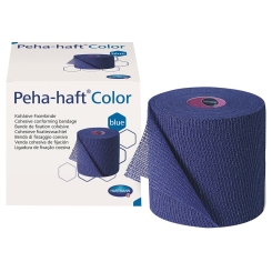 Peha-haft® Color latexfrei Fixierbinde blau 8 cm x 4 m blau