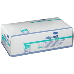 Peha-soft® powderfree aus Latex Untersuchungshandschuhe Gr. L 8 - 9