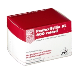 Pentoxifyllin Al 600 retard Tabl.