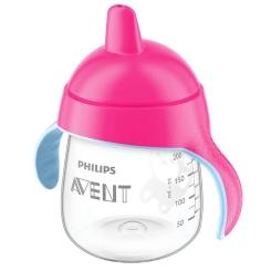 Philips® AVENT Becher mit Trinkschnabel pink 260 ml