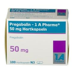 PREGABALIN 1A Pharma 50 mg Hartkapseln