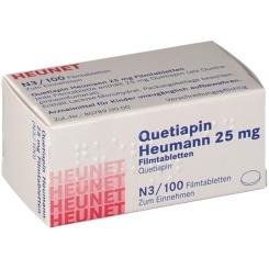 QUETIAPIN Heumann 25 mg Filmtabletten Heunet