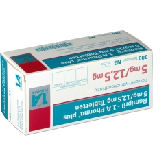 RAMIPRIL 1A Pharma plus 5 mg/12,5 mg