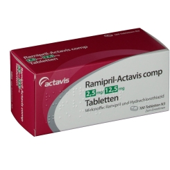 RAMIPRIL Actavis comp 2,5 mg/12,5 mg